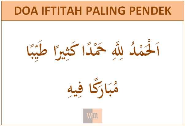 doa iftitah paling pendek